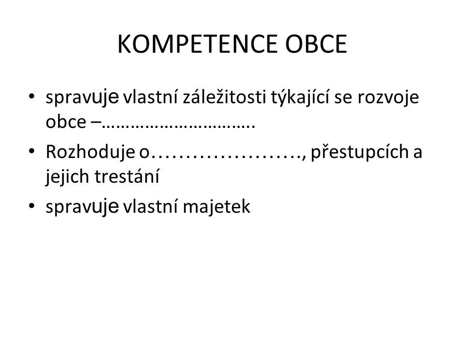 Kolik je v ČR vyšších samosprávných celků.Pojmenujte je.