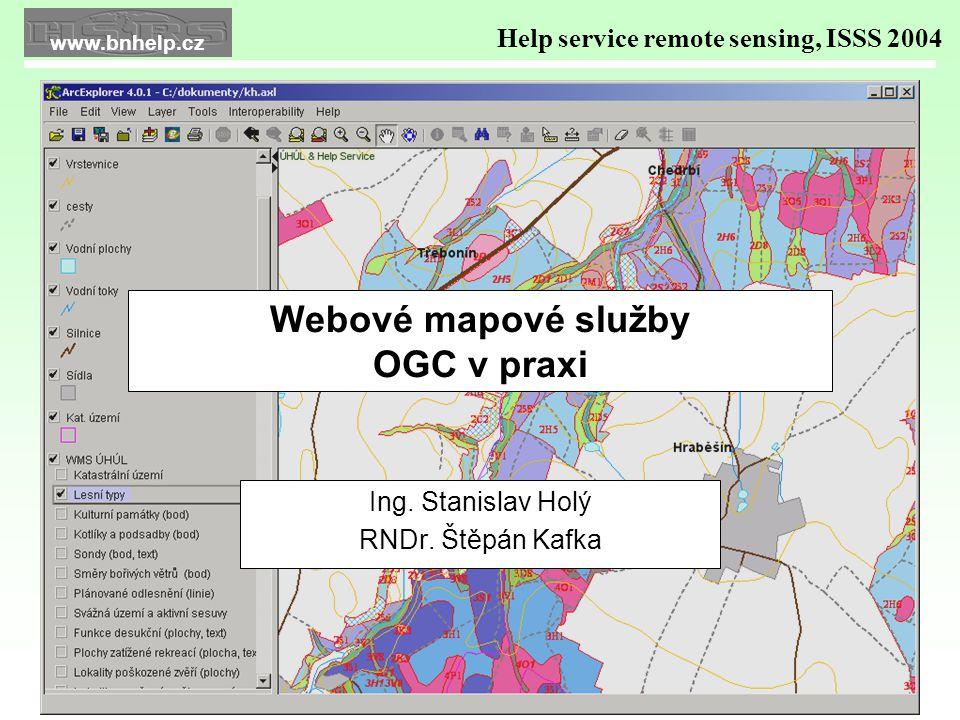 Webové mapové služby OGC v praxi Ing. Stanislav Holý RNDr.