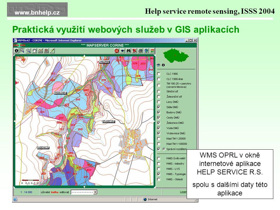 WMS OPRL v okně internetové aplikace HELP SERVICE R.S.