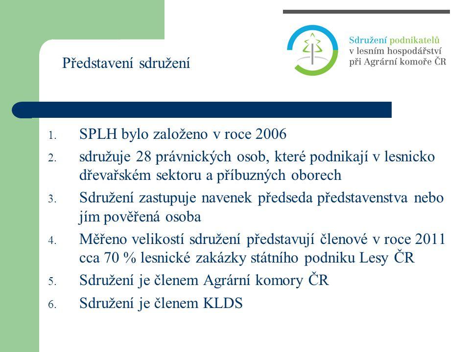 1. SPLH bylo založeno v roce 2006 2. sdružuje 28 právnických osob, které podnikají v lesnicko dřevařském sektoru a příbuzných oborech 3. Sdružení zast