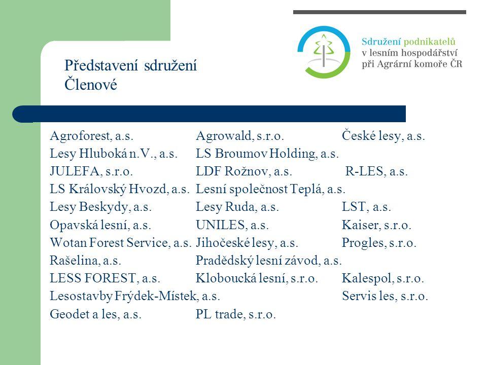 Agroforest, a.s.Agrowald, s.r.o.České lesy, a.s. Lesy Hluboká n.V., a.s.LS Broumov Holding, a.s. JULEFA, s.r.o.LDF Rožnov, a.s. R-LES, a.s. LS Královs