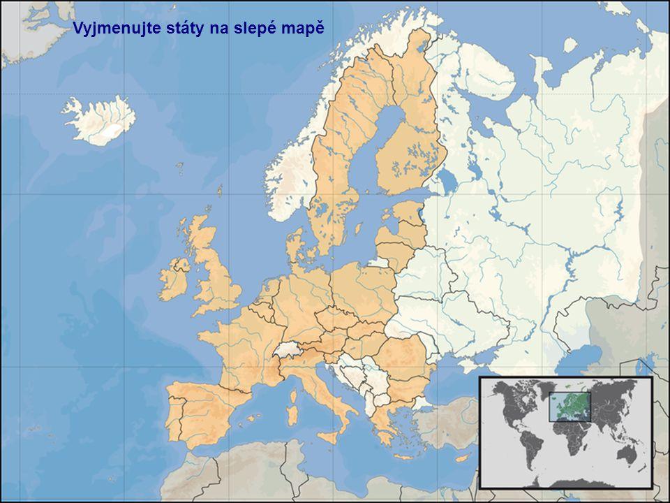 Vyjmenujte státy na slepé mapě