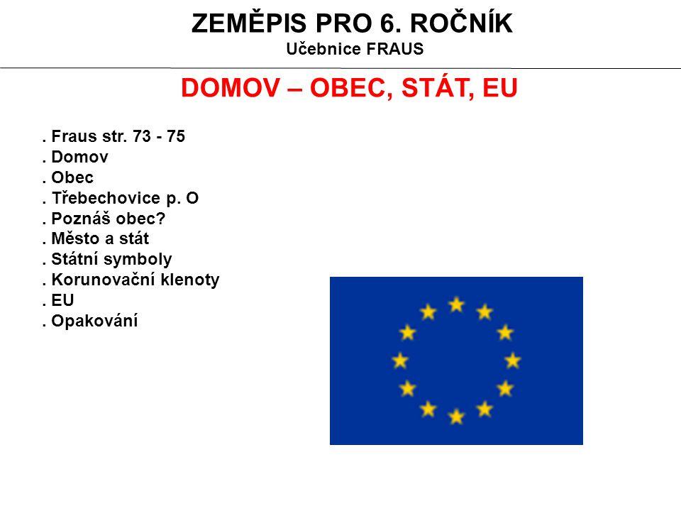DOMOV – OBEC, STÁT, SVĚTADÍL Domov se skládá z místa kde žiješ, z lidí s kterými žiješ a z věcí které tam máš.