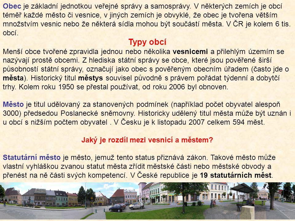 Obec je základní jednotkou veřejné správy a samosprávy. V některých zemích je obcí téměř každé město či vesnice, v jiných zemích je obvyklé, že obec j