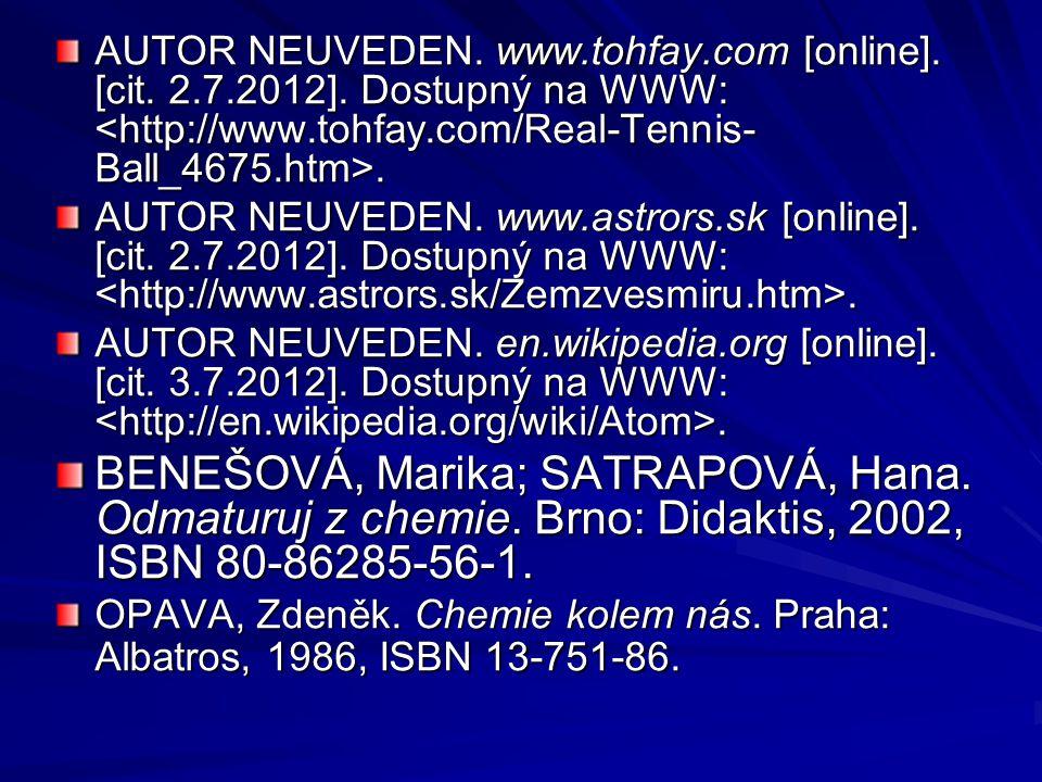 AUTOR NEUVEDEN. www.tohfay.com [online]. [cit. 2.7.2012].