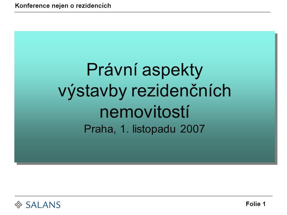 Právní aspekty výstavby rezidenčních nemovitostí Praha, 1.