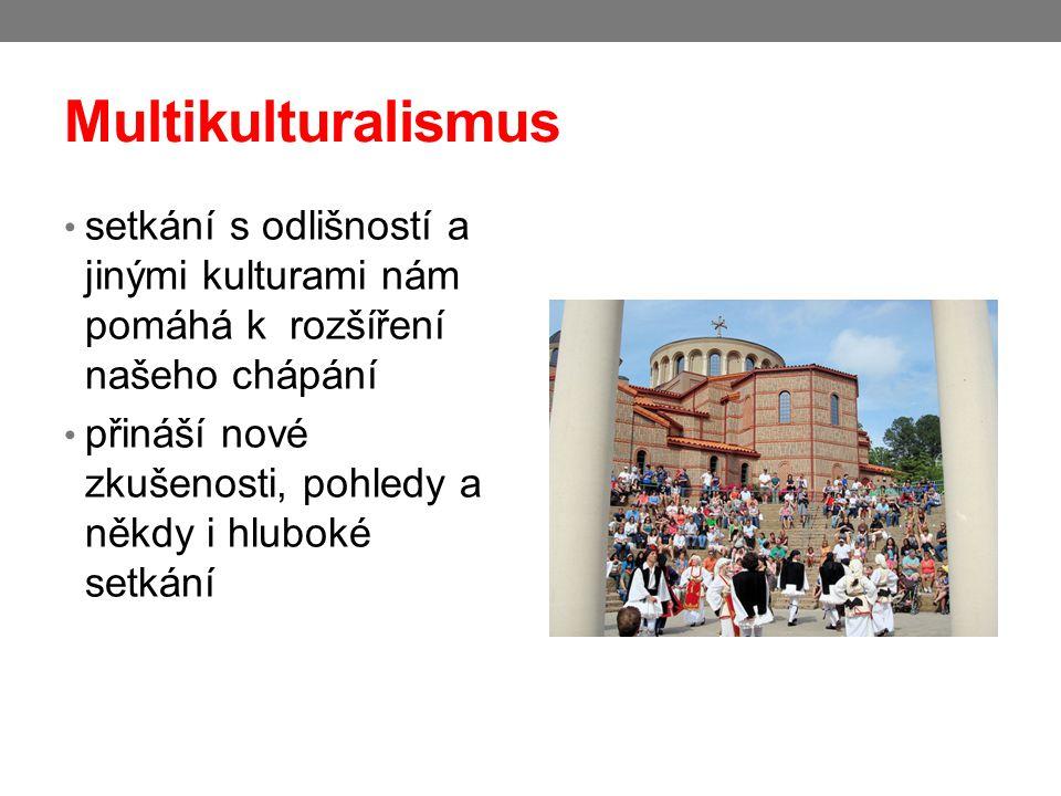 Multikulturalismus setkání s odlišností a jinými kulturami nám pomáhá k rozšíření našeho chápání přináší nové zkušenosti, pohledy a někdy i hluboké se