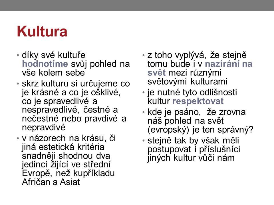 Zápis do sešitu Kultura vše, co vytváří lidská civilizace umění náboženství morálka, zvyky vzdělávací systémy politika právo komplex myšlenek, názorů, postojů