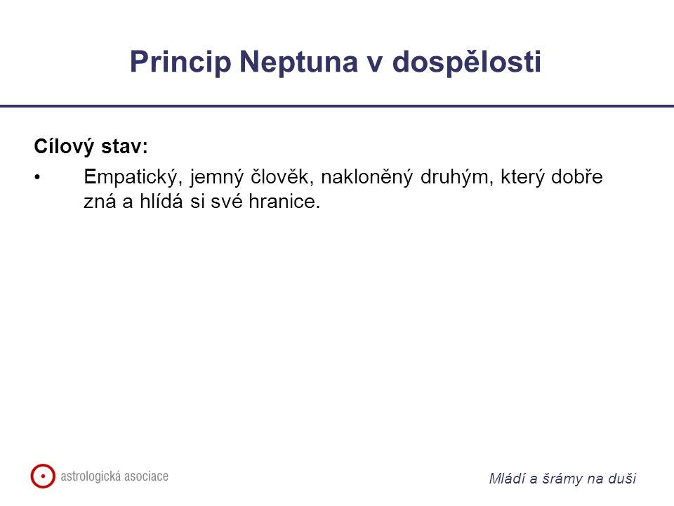 Mládí a šrámy na duši Princip Neptuna v dospělosti Cílový stav: Empatický, jemný člověk, nakloněný druhým, který dobře zná a hlídá si své hranice.