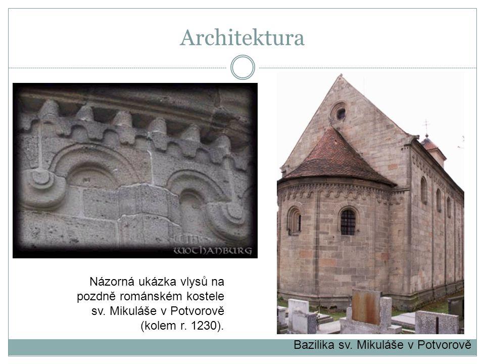 Bazilika sv. Mikuláše v Potvorově Názorná ukázka vlysů na pozdně románském kostele sv. Mikuláše v Potvorově (kolem r. 1230). Architektura