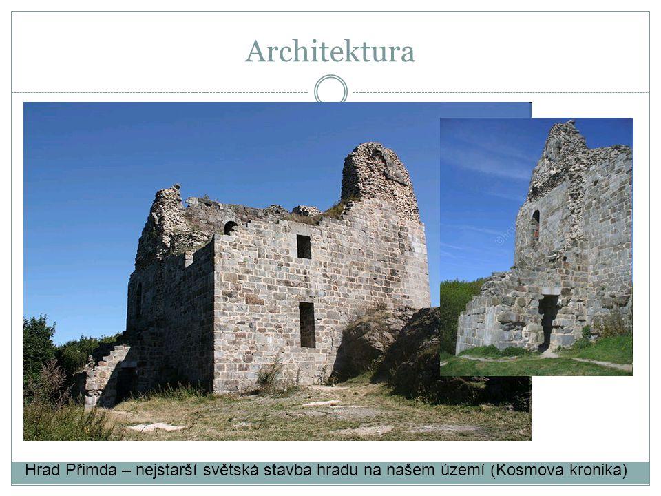 Hrad Přimda – nejstarší světská stavba hradu na našem území (Kosmova kronika) Architektura