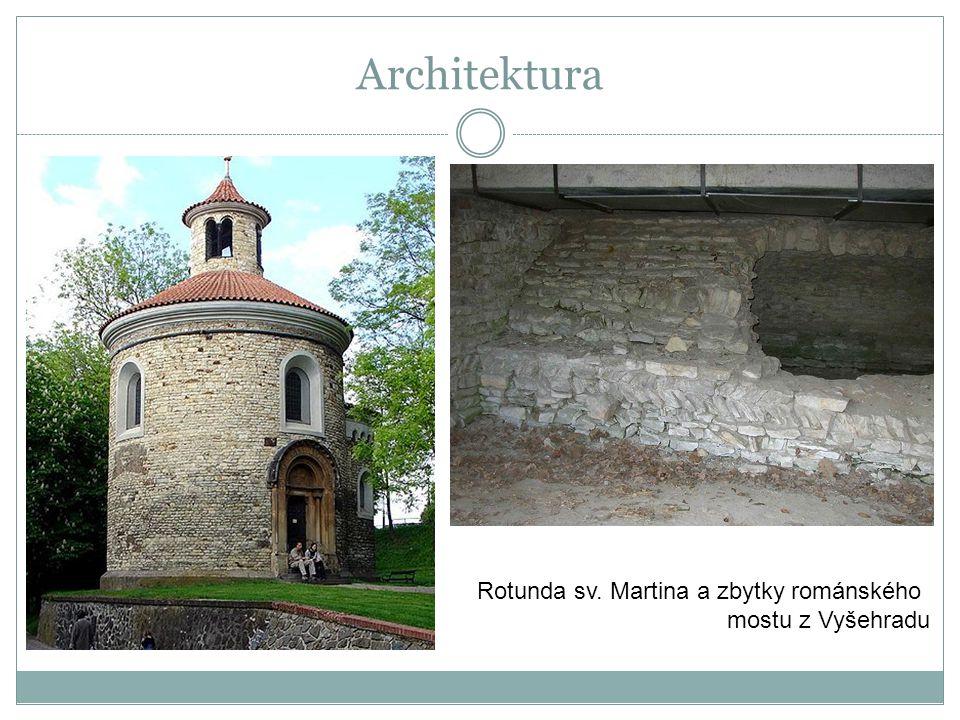 Rotunda sv. Martina a zbytky románského mostu z Vyšehradu Architektura