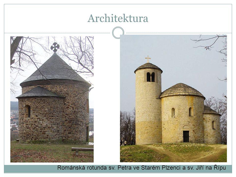 Románská rotunda sv. Petra ve Starém Plzenci a sv. Jiří na Řípu Architektura