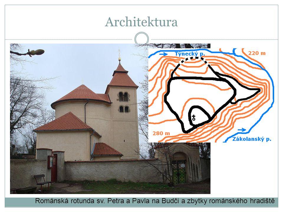 Románská rotunda sv. Petra a Pavla na Budči a zbytky románského hradiště