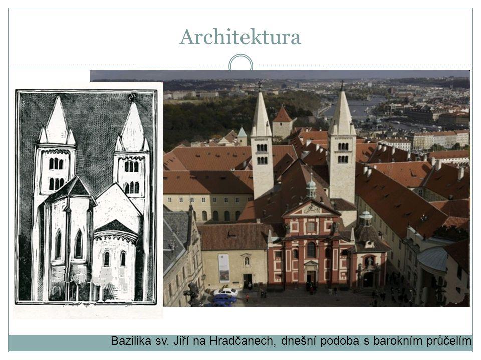 Architektura Bazilika sv. Jiří na Hradčanech, dnešní podoba s barokním průčelím