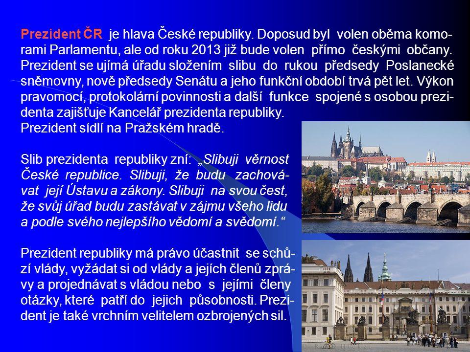 Prezident ČR je hlava České republiky.