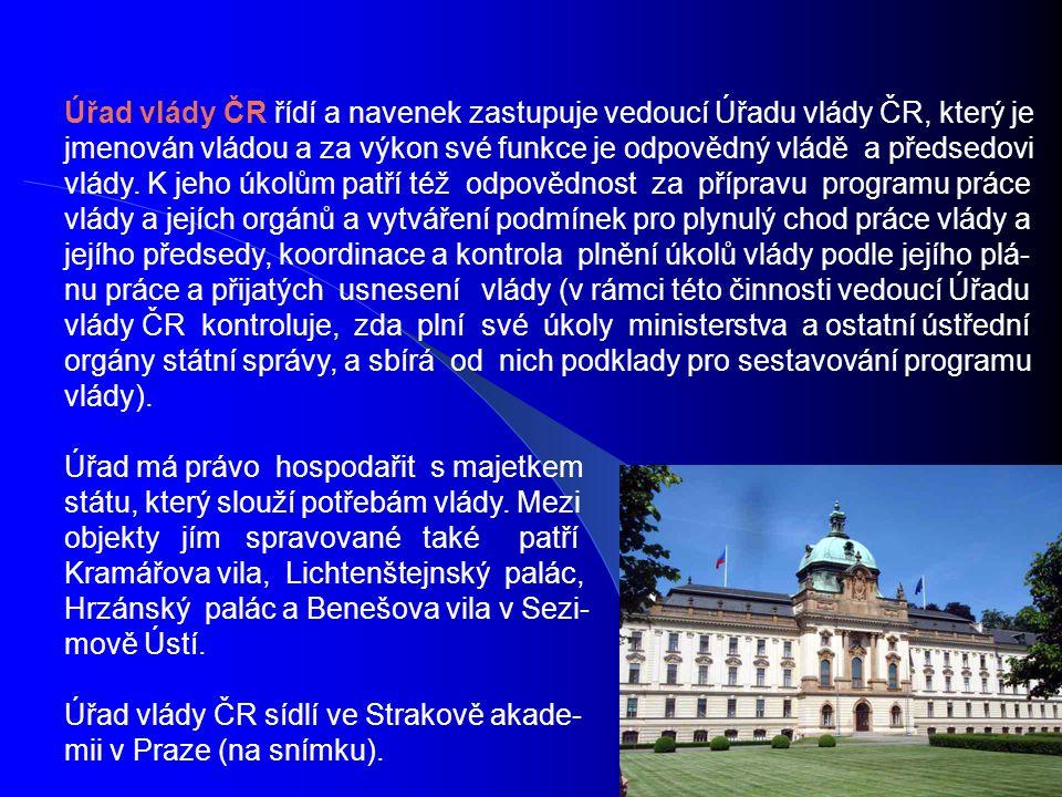 Ministerstva ČR: 1.Ministerstvo pro místní rozvoj 2.