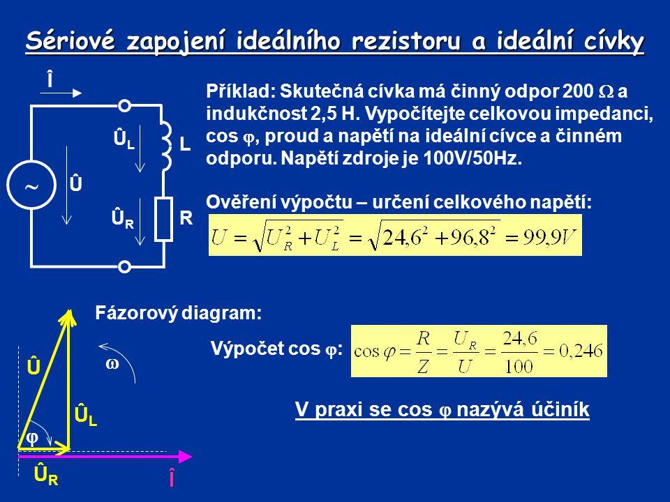 Činitel jakosti Û Î  R C L ÛLÛL ÛRÛR ÛCÛC Î RL ÎCÎC se odvodí z poměru proudů přes kondenzátor a celkovým proudem Musí platit (proudový dělič): Po dosazení: Po úpravě:obdobně Pro vyšší činitel jakosti přibližně platí I C0 = I LR0