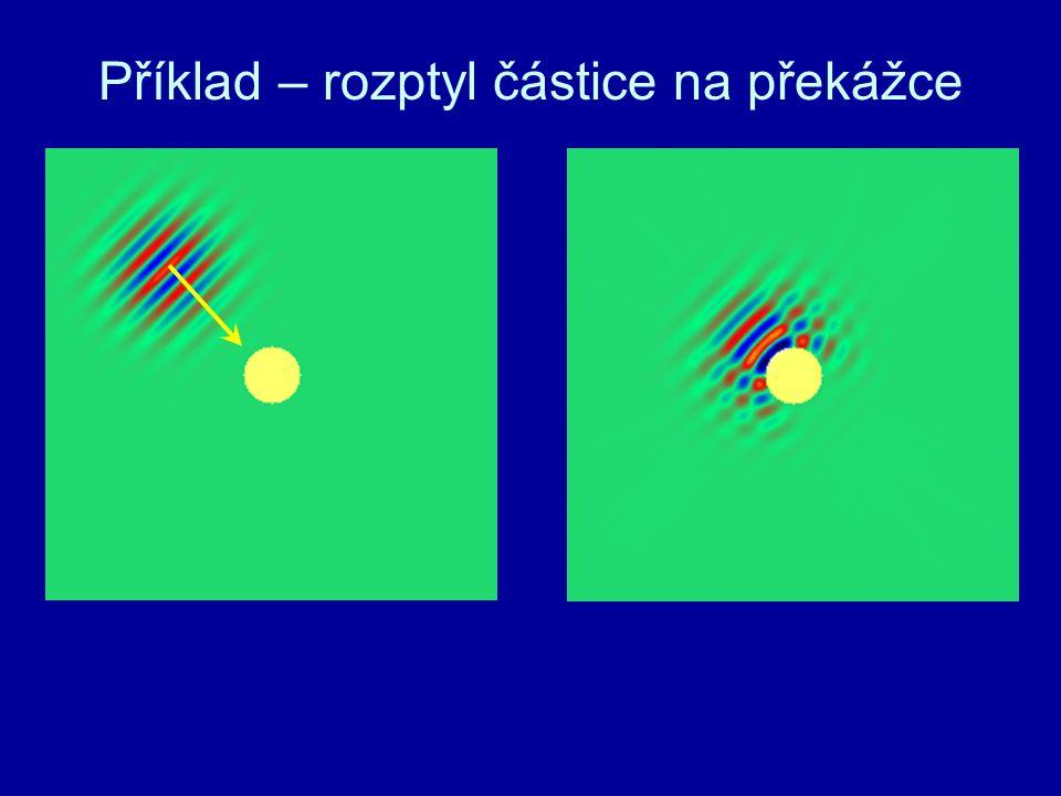 Příklad – rozptyl částice na překážce