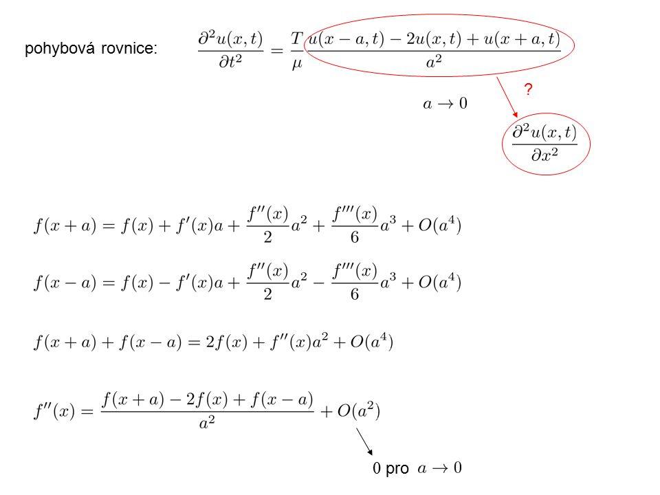 0 pro ? pohybová rovnice: