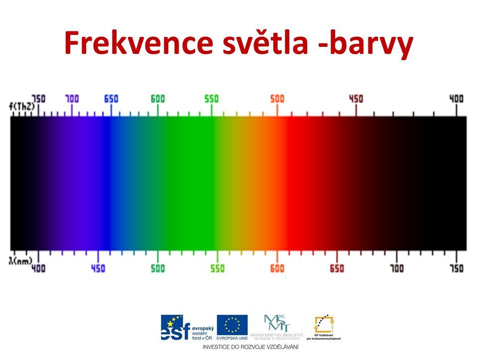 Neviditelné frekvence světla Hned vedle viditelného světla se nachází ultrafialové (UV), směrem do kratších vlnových délek, a infračervené záření (IR), směrem do delších délek.