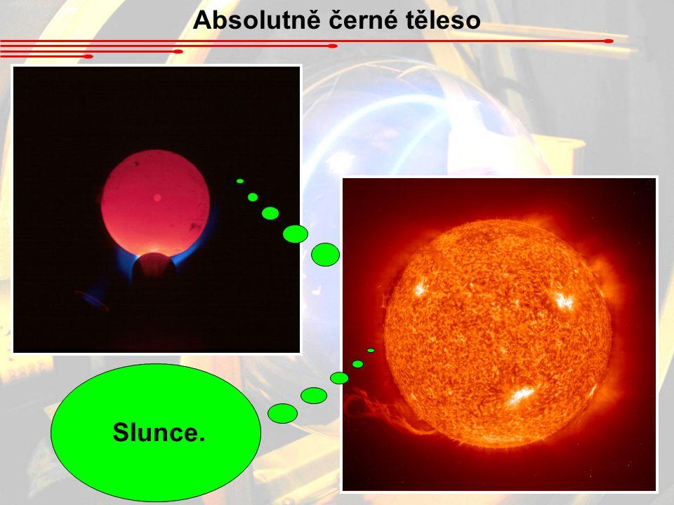 Absolutně černé těleso Kovová kulička v temné chladné místnosti, zahřátá na vysokou teplotu.