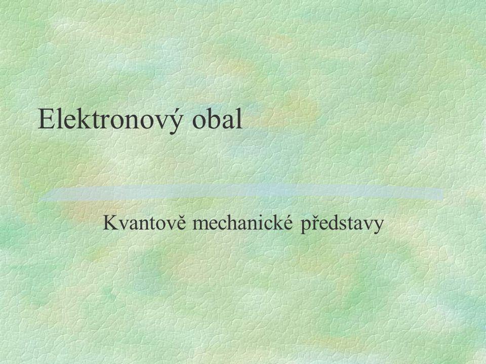 Elektronový obal Kvantově mechanické představy