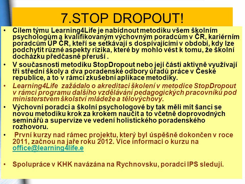 7.STOP DROPOUT.