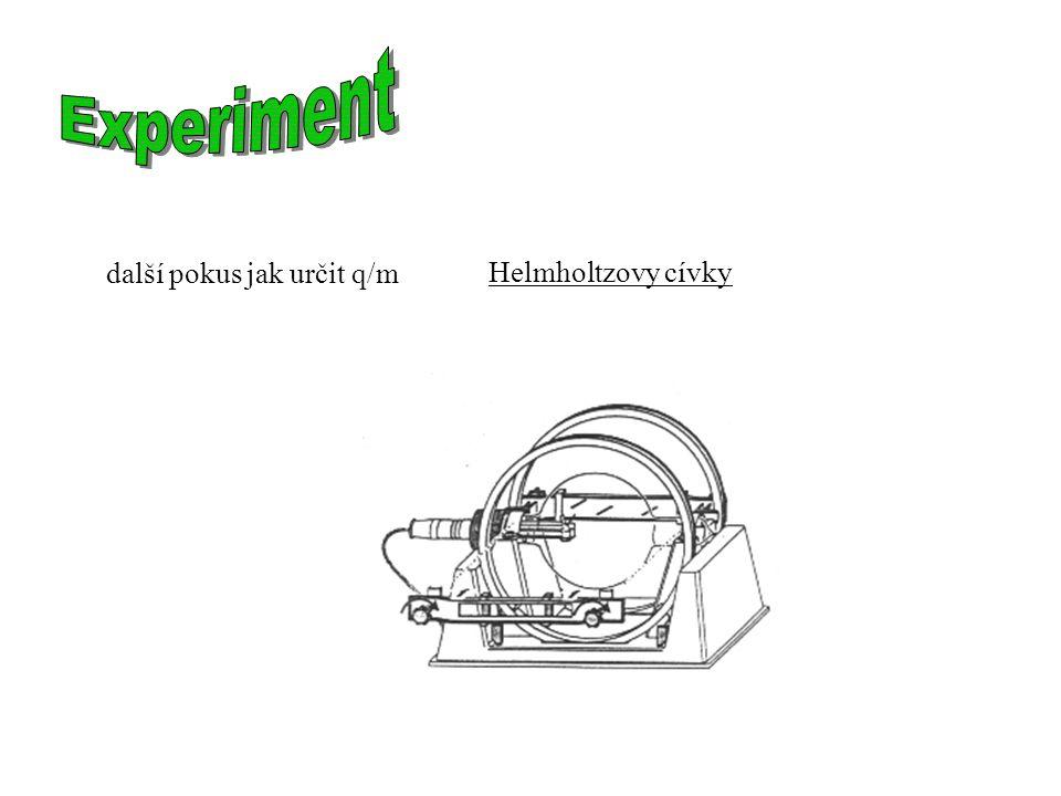 Helmholtzovy cívky další pokus jak určit q/m