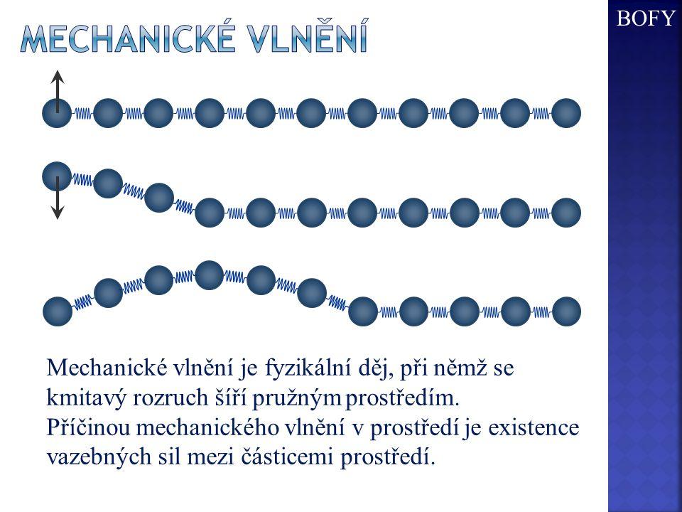 Mechanické vlnění je fyzikální děj, při němž se kmitavý rozruch šíří pružným prostředím. Příčinou mechanického vlnění v prostředí je existence vazebný