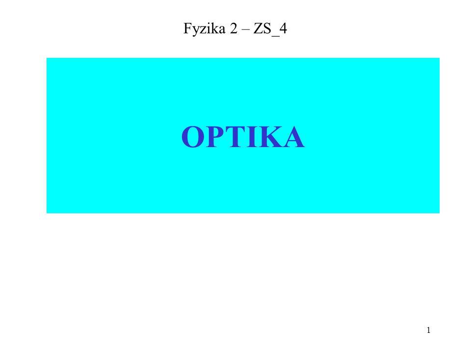 1 Fyzika 2 – ZS_4 OPTIKA