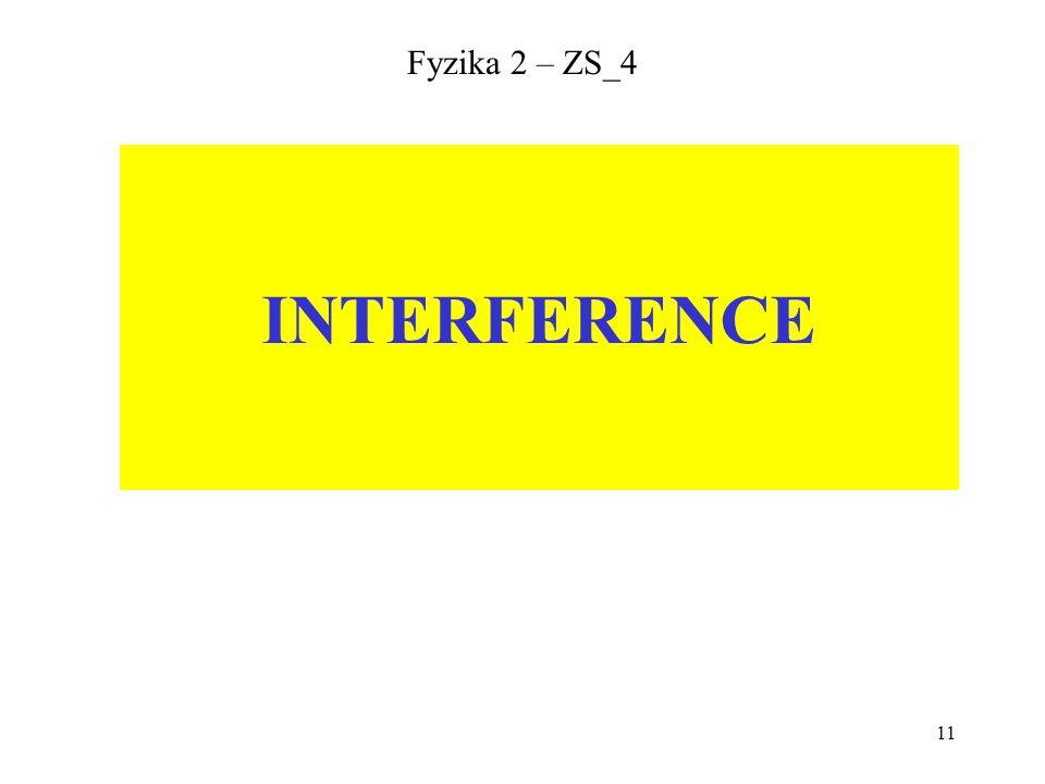 11 Fyzika 2 – ZS_4 INTERFERENCE