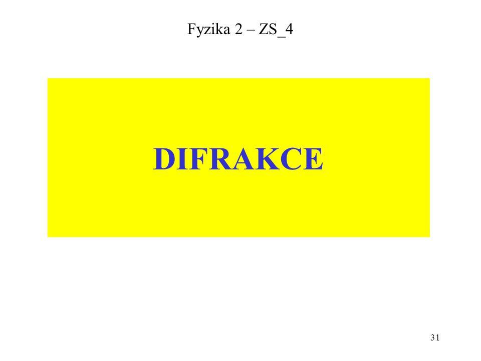 31 Fyzika 2 – ZS_4 DIFRAKCE