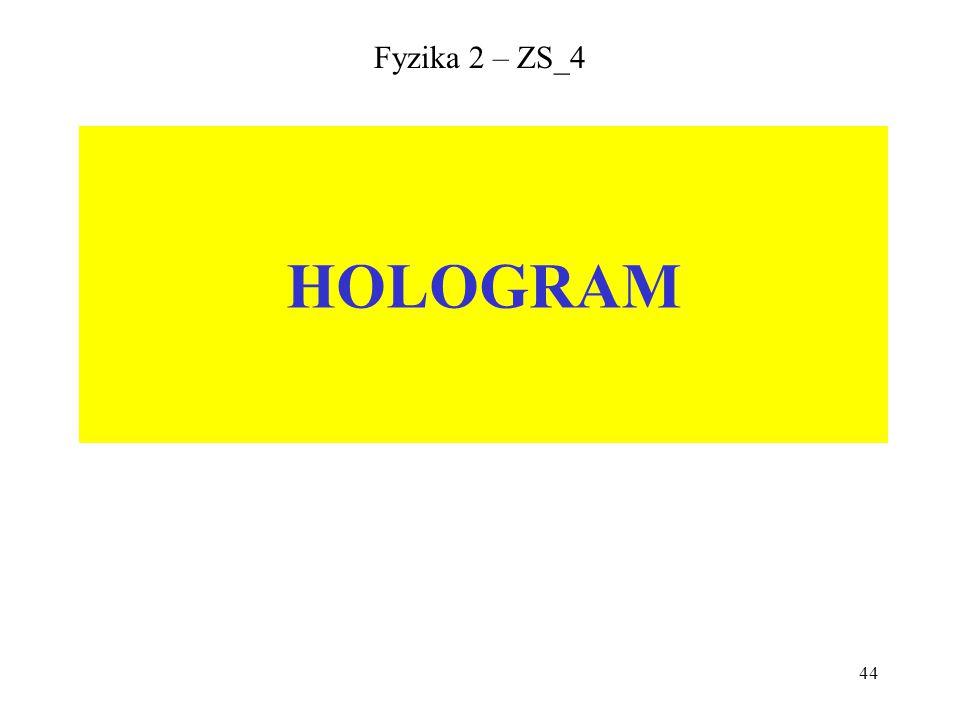 44 Fyzika 2 – ZS_4 HOLOGRAM