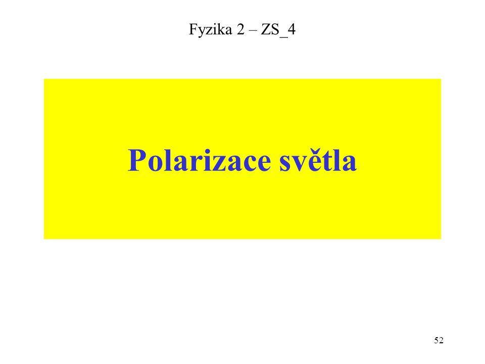 52 Fyzika 2 – ZS_4 Polarizace světla