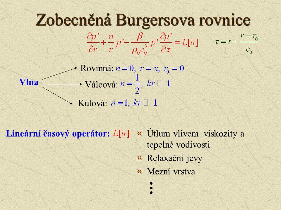 Řešení Burgersovy rovnic Bezrozměrný tvar Burgersovy rovnice: Coleova-Hopfova transformace: Obecné řešení