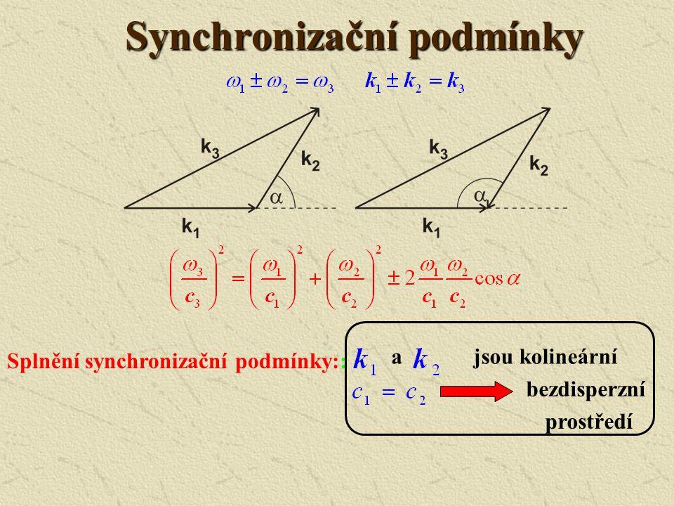 Charakteristické vzdálenosti Nelineární délka Difrakční délka Disperzní délka Disipační délka Chování akustické vlny určují relace mezi charakteristic