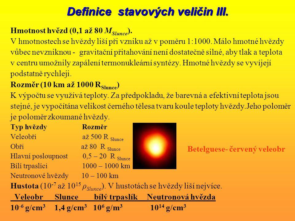Definice stavových veličin II.
