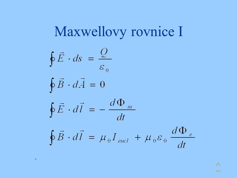 Maxwellovy rovnice I ^.