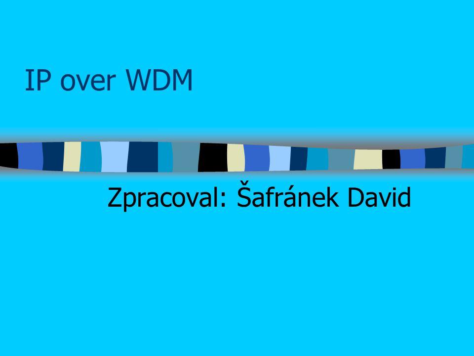 IP over WDM Zpracoval: Šafránek David