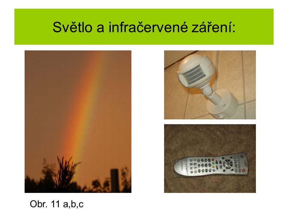 Světlo a infračervené záření: Obr. 11 a,b,c