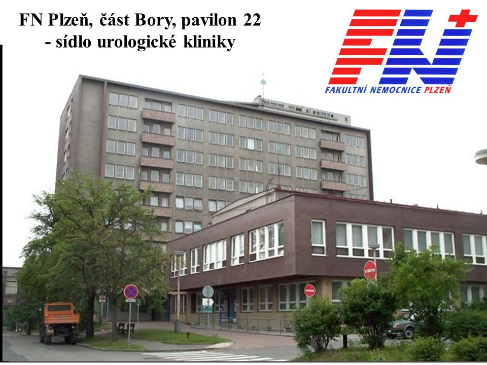 FN Plzeň, část Bory, pavilon 22 - sídlo urologické kliniky
