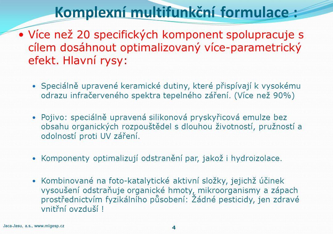 Komplexní multifunkční formulace : Více než 20 specifických komponent spolupracuje s cílem dosáhnout optimalizovaný více-parametrický efekt.
