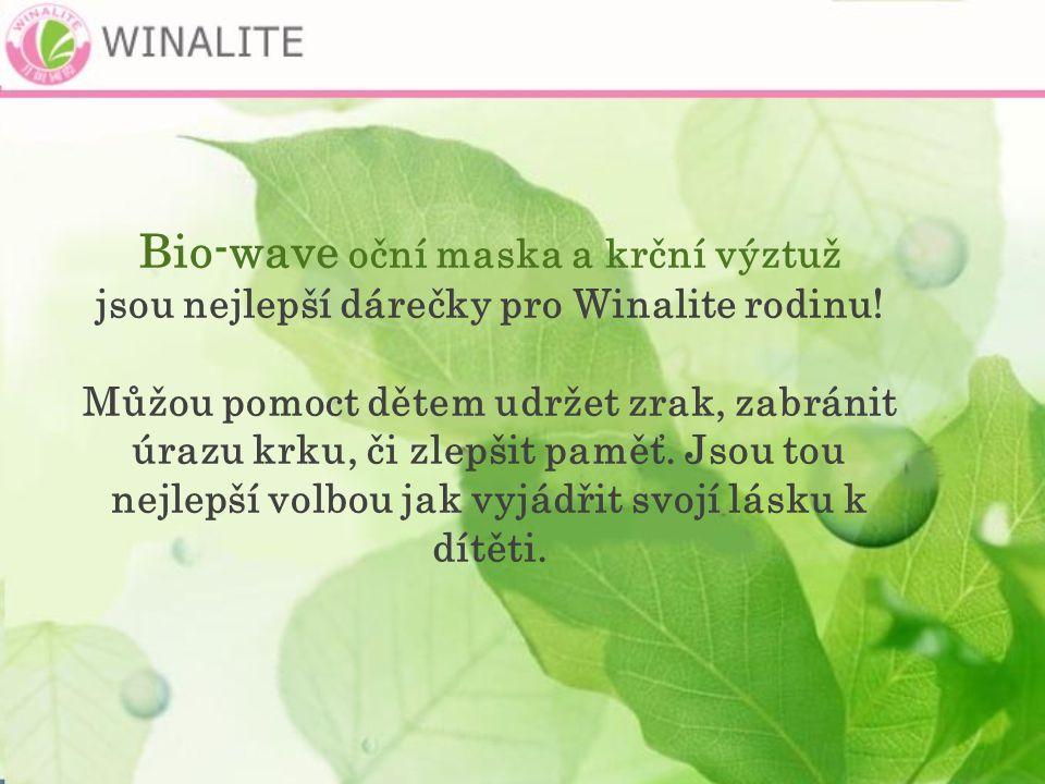 Bio-wave oční maska a krční výztuž jsou nejlepší dárečky pro Winalite rodinu.