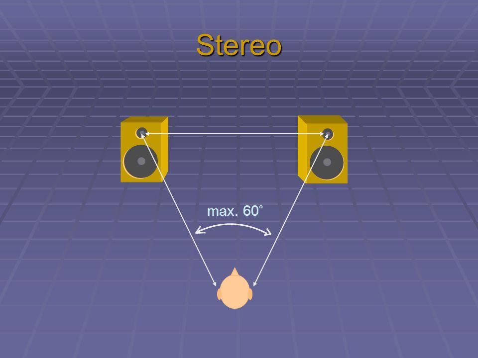 Stereo max. 60°