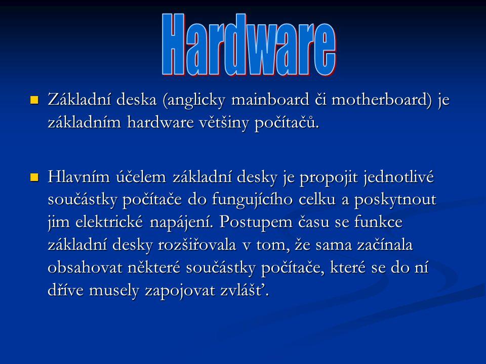 Základní deska (anglicky mainboard či motherboard) je základním hardware většiny počítačů. Základní deska (anglicky mainboard či motherboard) je zákla