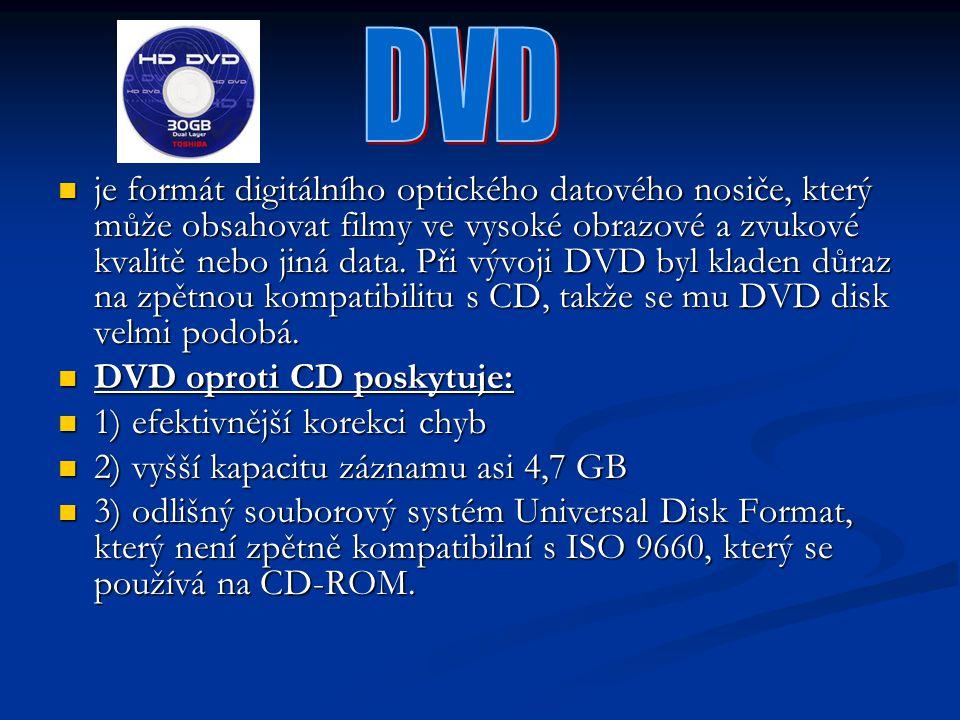 je formát digitálního optického datového nosiče, který může obsahovat filmy ve vysoké obrazové a zvukové kvalitě nebo jiná data. Při vývoji DVD byl kl