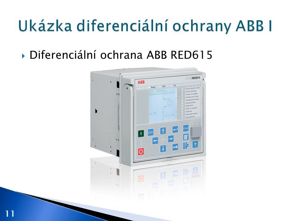  Diferenciální ochrana ABB RED615 11
