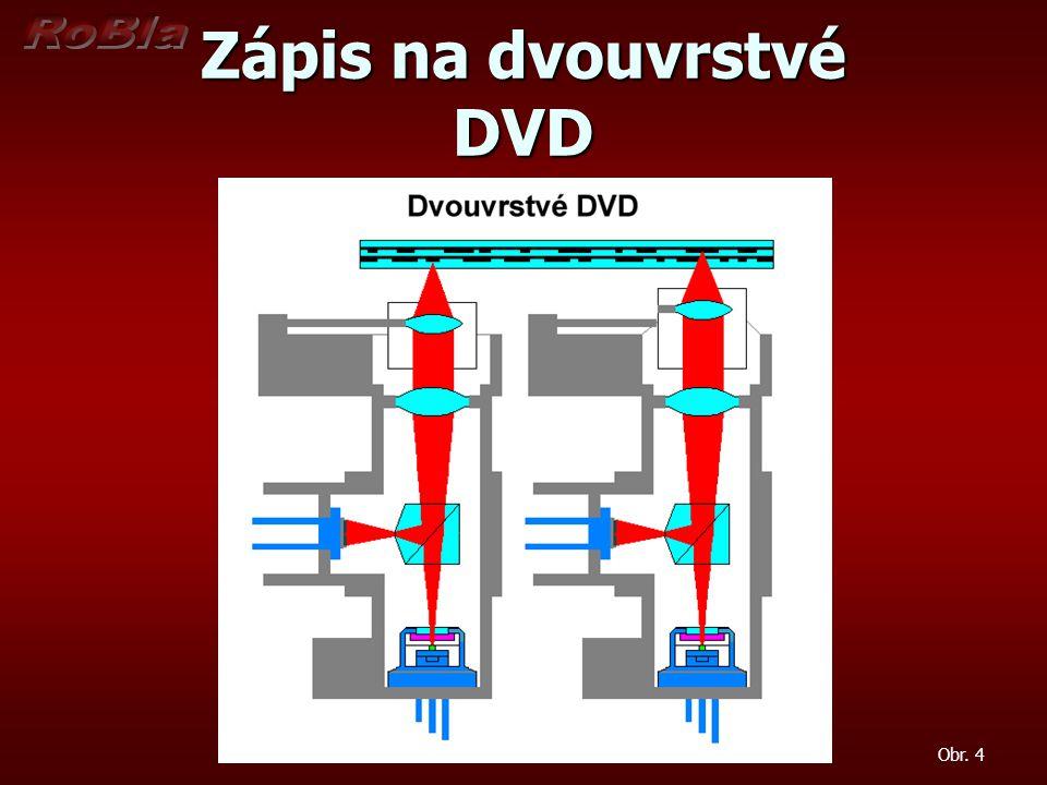 Zápis na dvouvrstvé DVD Obr. 4