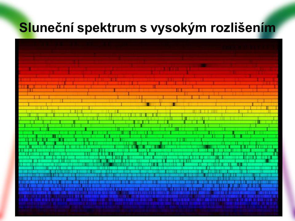 Sluneční spektrum s vysokým rozlišením